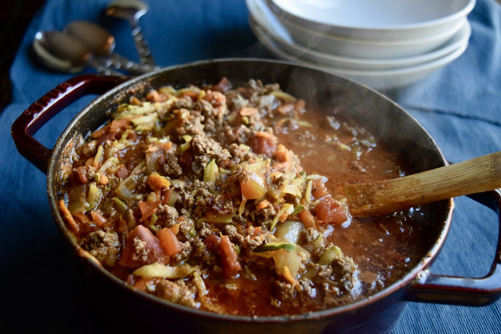 one pot meal, chili, paleo, primal, dairy-free, postpartum nutrition, freezer meals, meal prep
