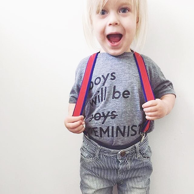This one's suspender game is strong! Ps- Our sale is still on and we actually found a few size 2Ts and 4Ts in these tees! Will be adding them to our website tonight at around 9pm! Grab them while they last! Promo code: wuchild for 40% off your order! #boyswillbefeminists #raisingfeminists #toddlerstyle #todderlife #toddlerfashion #localshop #localbusiness #kidsofinstagram #wuchild