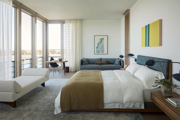 Custom floating nightshelves. Designed for Laura Santos + Sandra Weingort