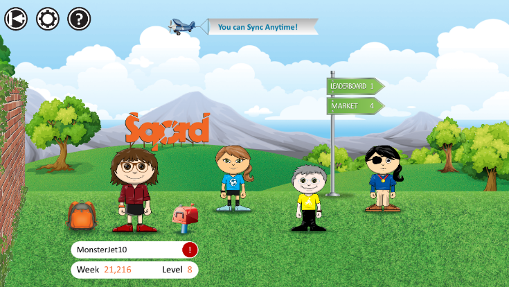 My Avatar on Sqord, rocking the glasses and showing my activity levels!