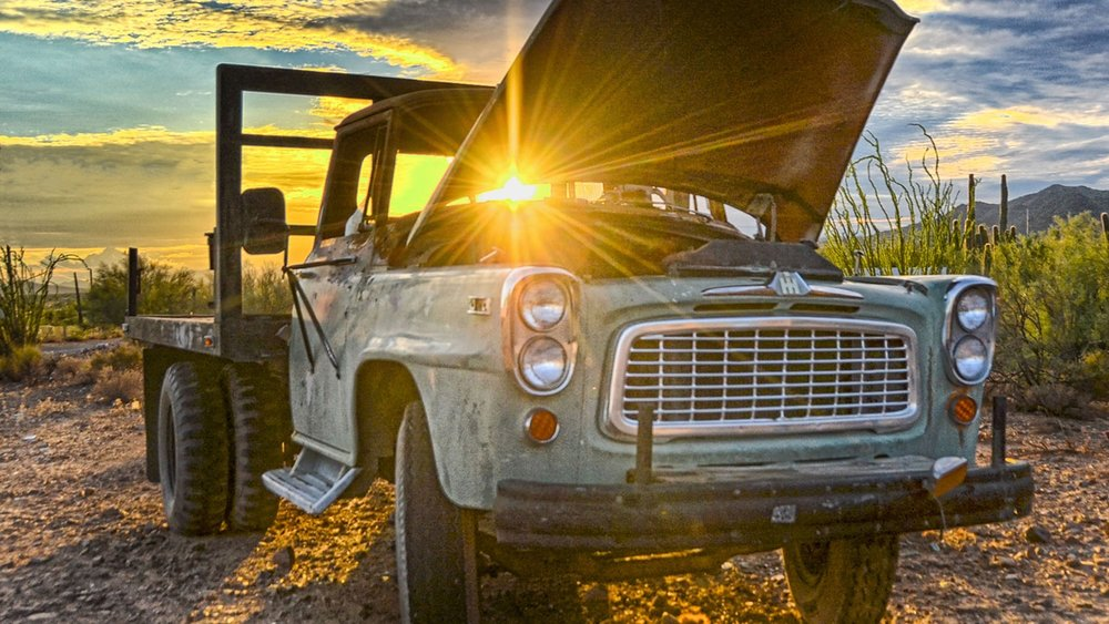 Vintage-Truck-in-Sunset-Light-New-River.jpg