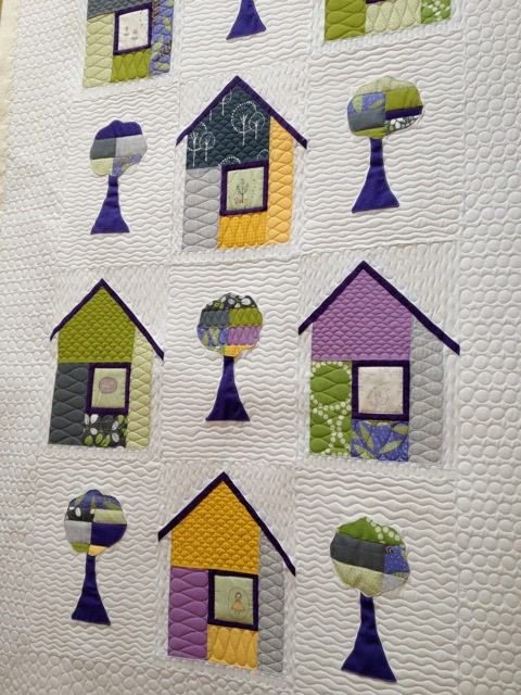 Peggie's Baby Quilt with Houses