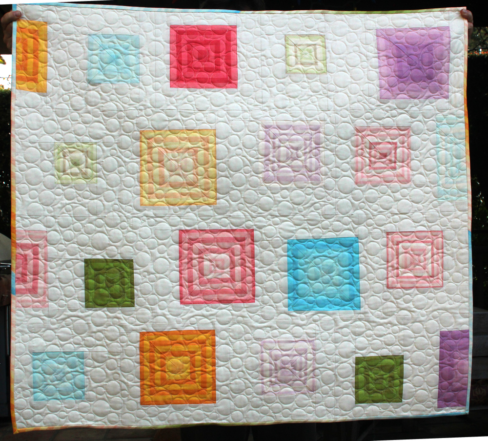 Striped Squared Baby Quilt