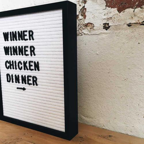white felt vintage style letter board with metal frame 8x10