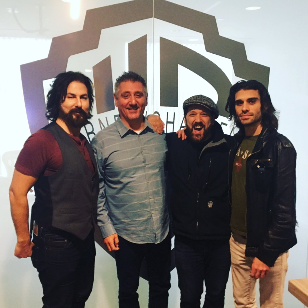 L-R Daniel Scott (SecondsAFTER Music), Dave Georgeff (Warner Chappell/Warner Bros.), Jeff Serra (SecondsAFTER Music), Tony Bernardo (SecondsAFTER Music)