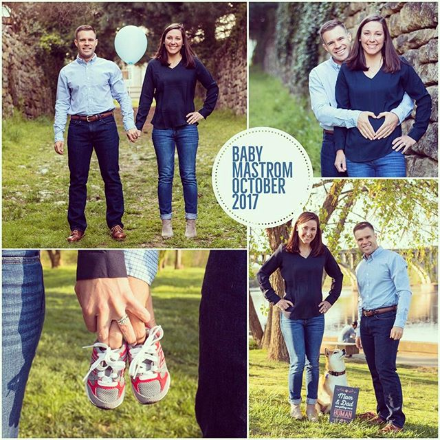 Happy to announce we have a little surprise!! Baby Mastrom coming in October 💙💙💙