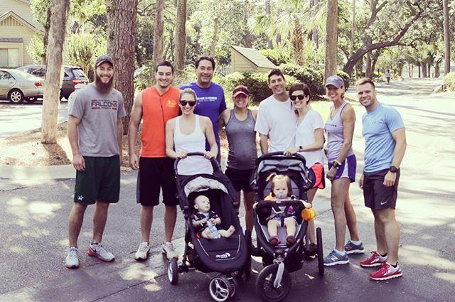 Lant family run in Hilton Head! #babyworkouts #familyrun