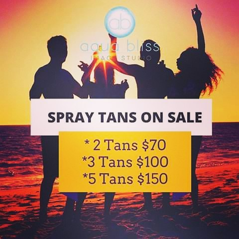 Tans on Sale This Month! #aquabliss #bronzedlife