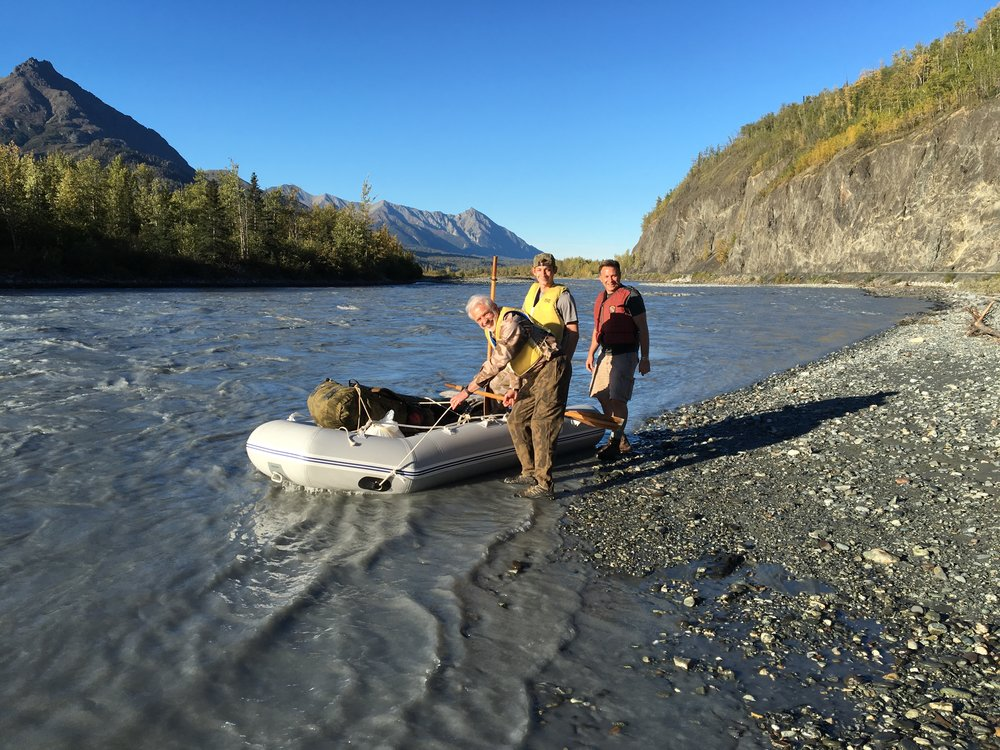 Getting ready to cross the Matanuska River.