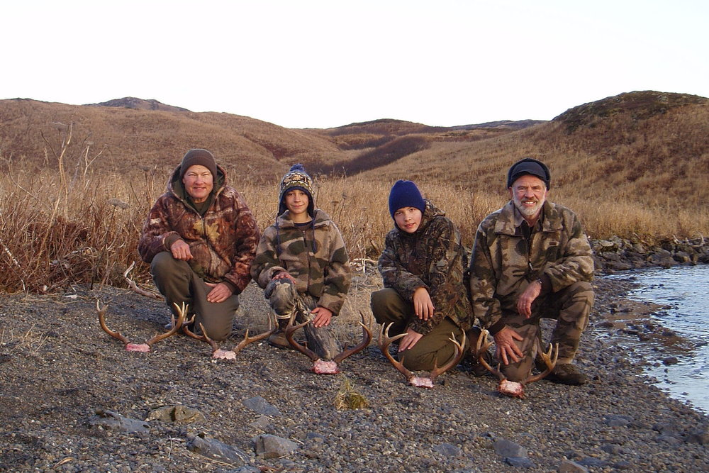 Ron, Jared, Philip and myself after our great hunt.