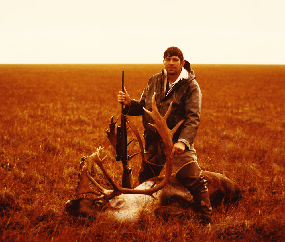 My first caribou taken on the Alaska Peninsula. Typical landscape.