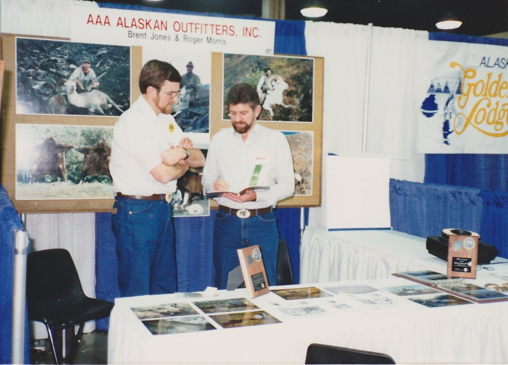 Brent and me at one of our earlier Foundation for North American Wild Sheep Conventions.