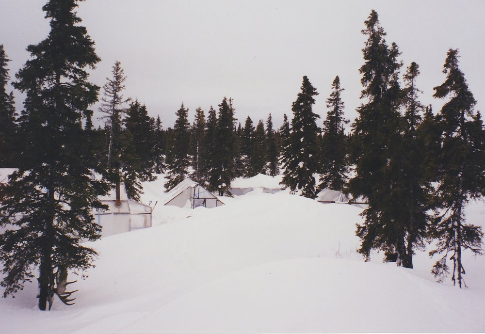 The Otter Lake Base Camp during a typical spring season.