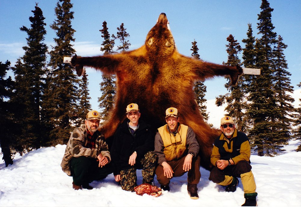 1999, (L to R) Myself, Carl McCollum, Lake Wales, FL, guide Mark Confer and Dan.