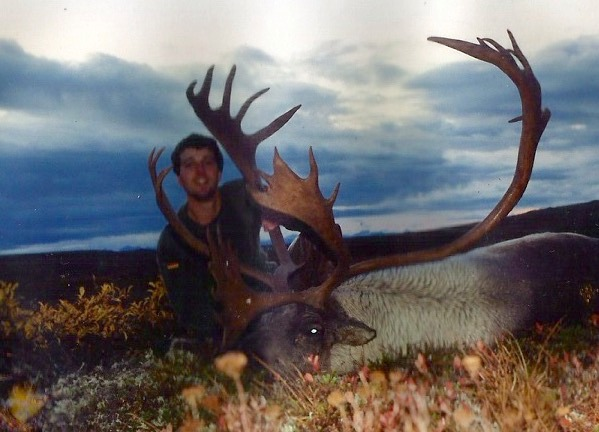 George Swierfos of WV scored with a double shovel 401 B&C caribou.  George's guide was Eric Sjodin.