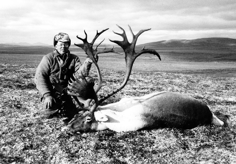 Matt Caldwell of IL with his majestic 412 B&C caribou.  Matt's guide was Chuck Miknich.  Matt had harvested another B&C caribou on one of his previous hunts with us on the Alaskan Peninsula.  Matt hunted with AAA eight different times.