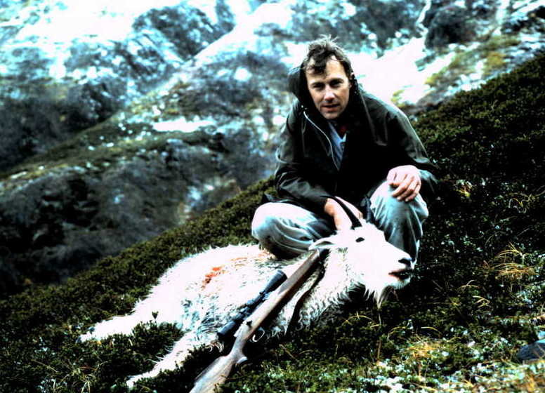 Russ looking a little cold with his wet mountain goat.
