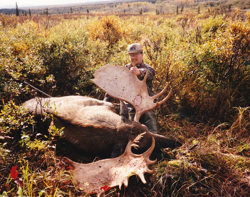 "Dave Nelsen, WI, with his 59"" moose."