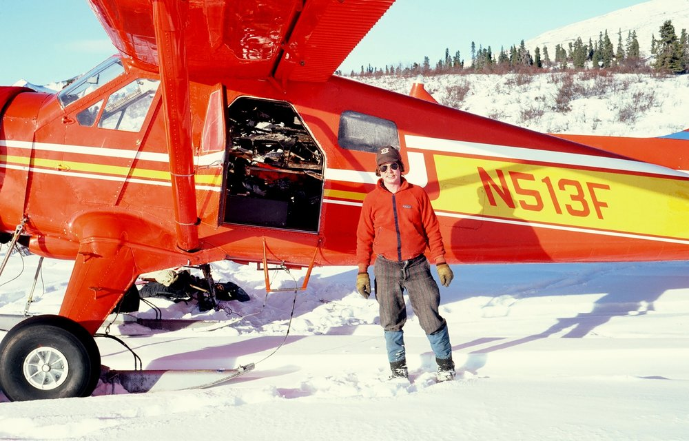 Paul Claus with his Beaver loaded with the burned remains of 1109A. We had to remove it from the Wrangell-St. Elias Preserve.