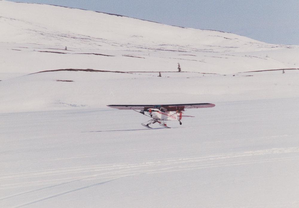 Landing 1936A at Otter Lake during spring brown bear season.