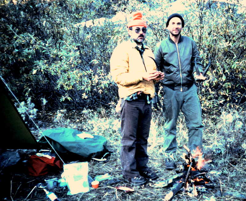 Back at base camp Earl and Mike holding their goat horns.