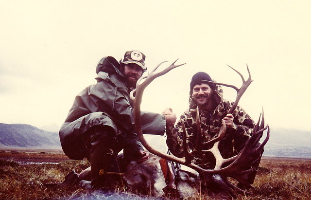 Chip from GA with his giant shoveled caribou.