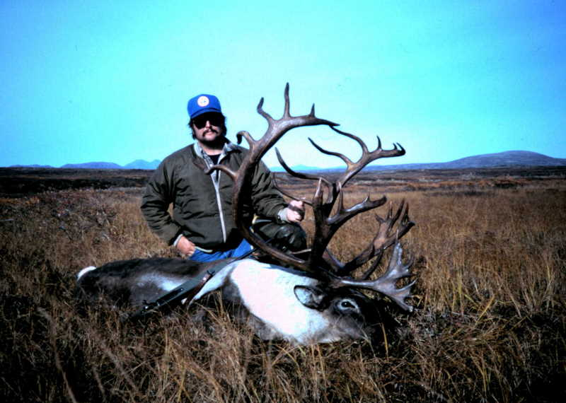 John White from TX with his 388 B&C caribou. It had the darkest antlers that I have ever seen.