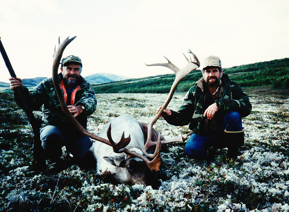 Ken Hayden from CO with his trophy caribou taken with a flintlock.