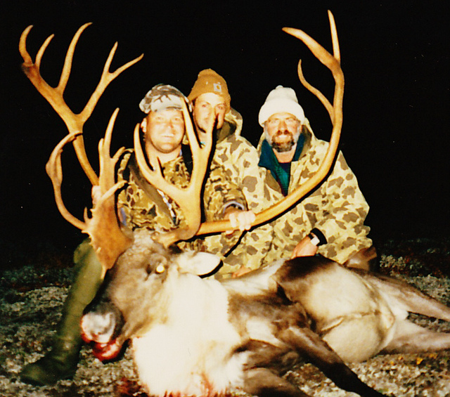 (L to R) Mark Giese from WI, Sagen and me with Mark's bull scoring in the 390's.