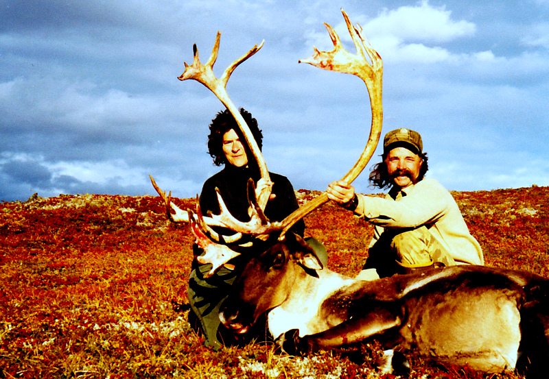 Dianne Hutchison from PA and guide John Koldeway with her caribou bull.