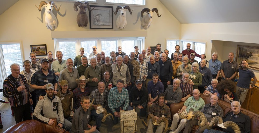 Attendees of the Old and Young Guns sheep hunters' gathering.