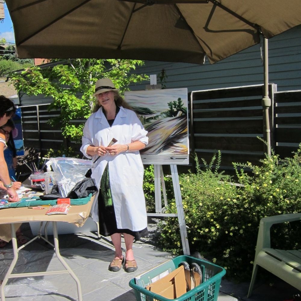 Art Demo Days  &nbsp &nbsp Summer 2014 <br> Effusion Art Gallery, Invermere, BC