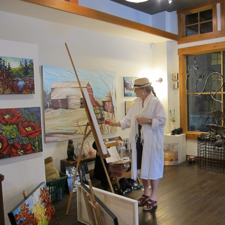 Art Demo Days  &nbsp &nbsp Summer 2014 <br> White Dog Gallery, Whistler, BC