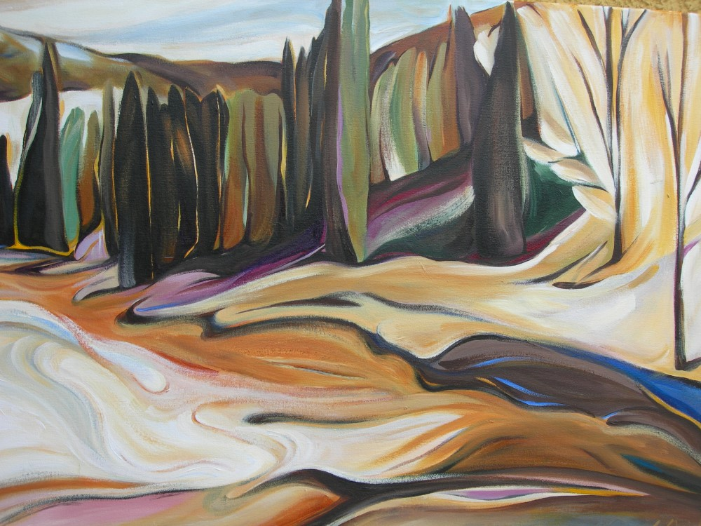 Mountains - Toby Creek at Panorama (Panorama Series #2)  30 X 40  SOLD (1000 x 750).jpg
