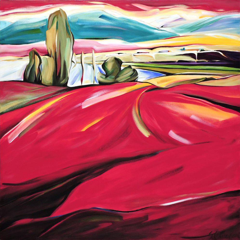 East of Eden 2011 - Lakeview Road View (Panorama Series) 48 X 48  AVAILABLE (1000 x 999).jpg