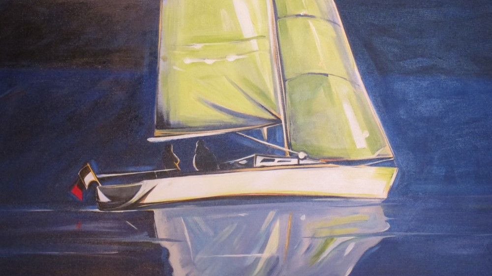Sail 2015 - Midnight Blue and Lime (Sail Series #2)  18 X 36  SOLD (1000 x 561).jpg