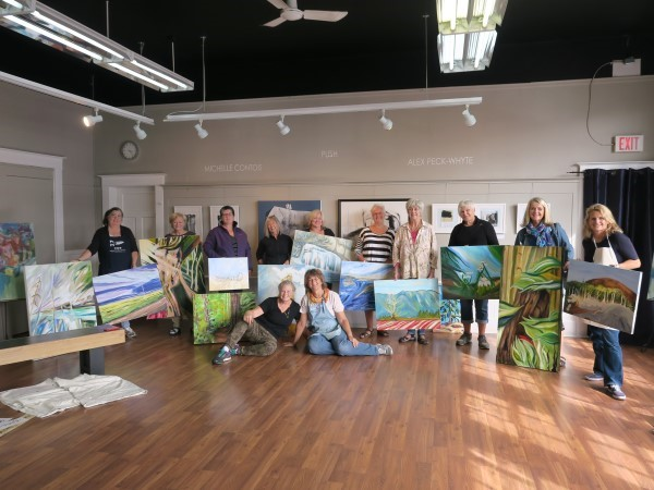 Painting Workshop  &nbsp &nbsp September 2017 <br> Great to work with productive artists in Parksville, BC!