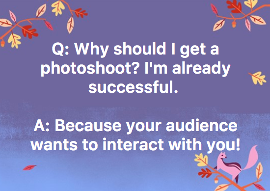 Everyone loves photos! This is especially true for small business owners, you need to give your clients and potential clients a lot of points of contact. Photos are the best way to do that! -
