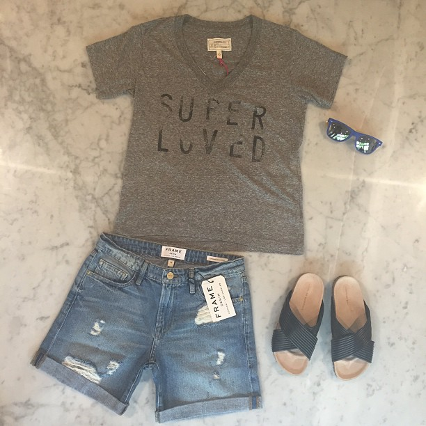 """We're diamonds in the rough The stars are made of us Nothing can bring us down down down We got that super love"" -Dami Im (Super Love)  Wearing   Frame Denim  ,   Loeffler Randall   sandals,   1Love4all   sunglasses, and   Current Elliott   tee"