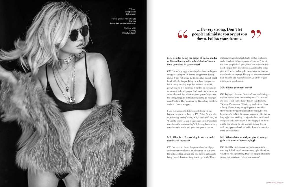 Chanel West Coast Interview Page 2