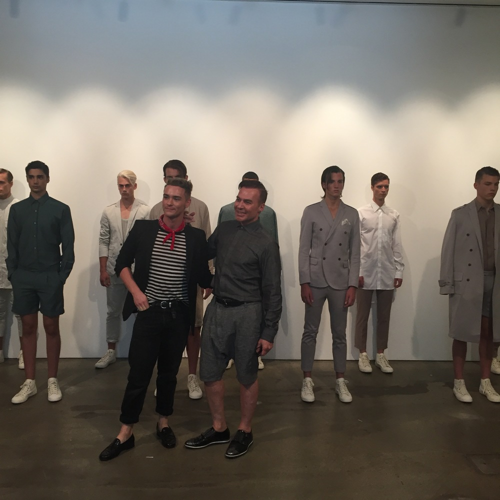 Fashion deisgner,   Loris Diran  , created a beautifully minimal collection using his impressive fabric sourcing skills.