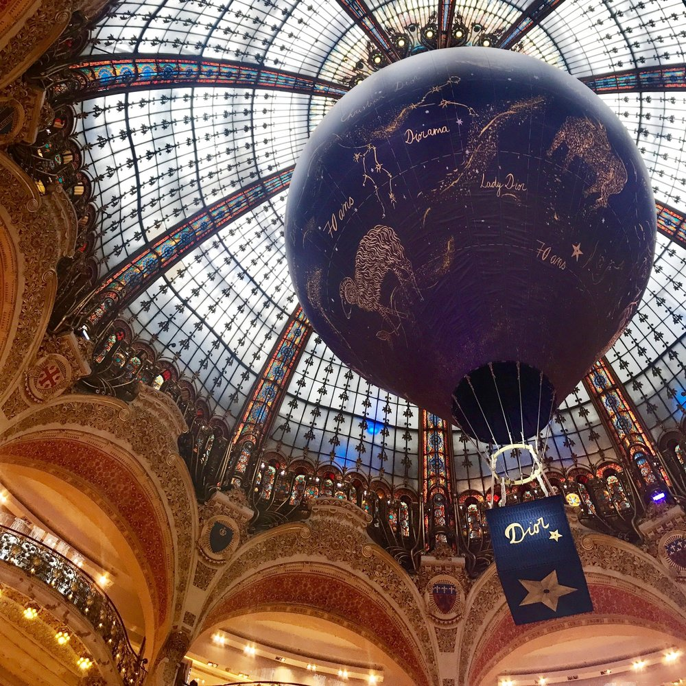 The inside of Galeries Lafayette,French department store chain