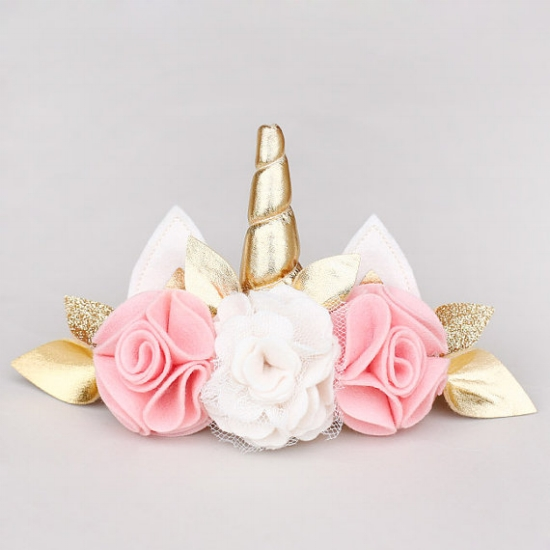 Pretty in Pink Uni-Crown Headband from  Splendere Child