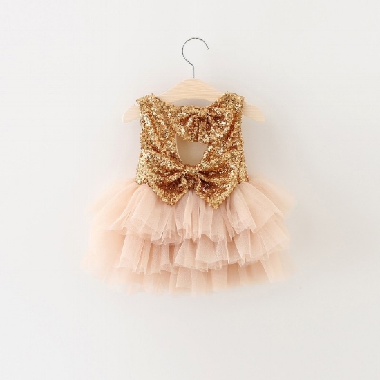 Blush, Sequin and Lace Princess Party dress by  Popreal