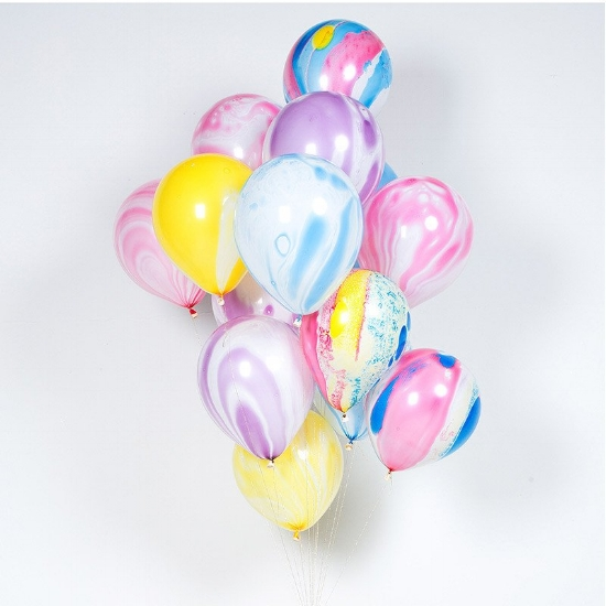 Rainbow Marble Balloons from Bonjour Fete