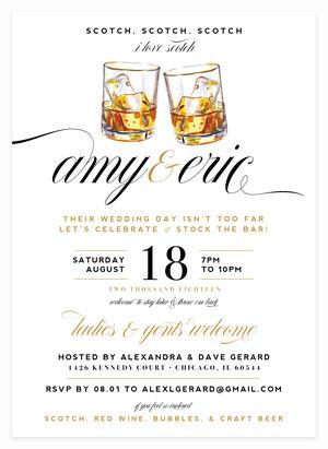 Scotch, Scotch, Scotch - Stock the Bar, CoEd Bridal Shower Invitations for Bride ...