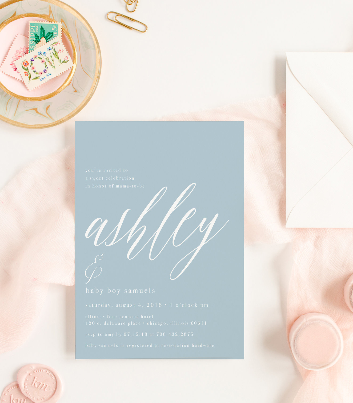 Kitty meow boutique simple elegant baby blue its a boy baby shower invitation for little baby dudes filmwisefo