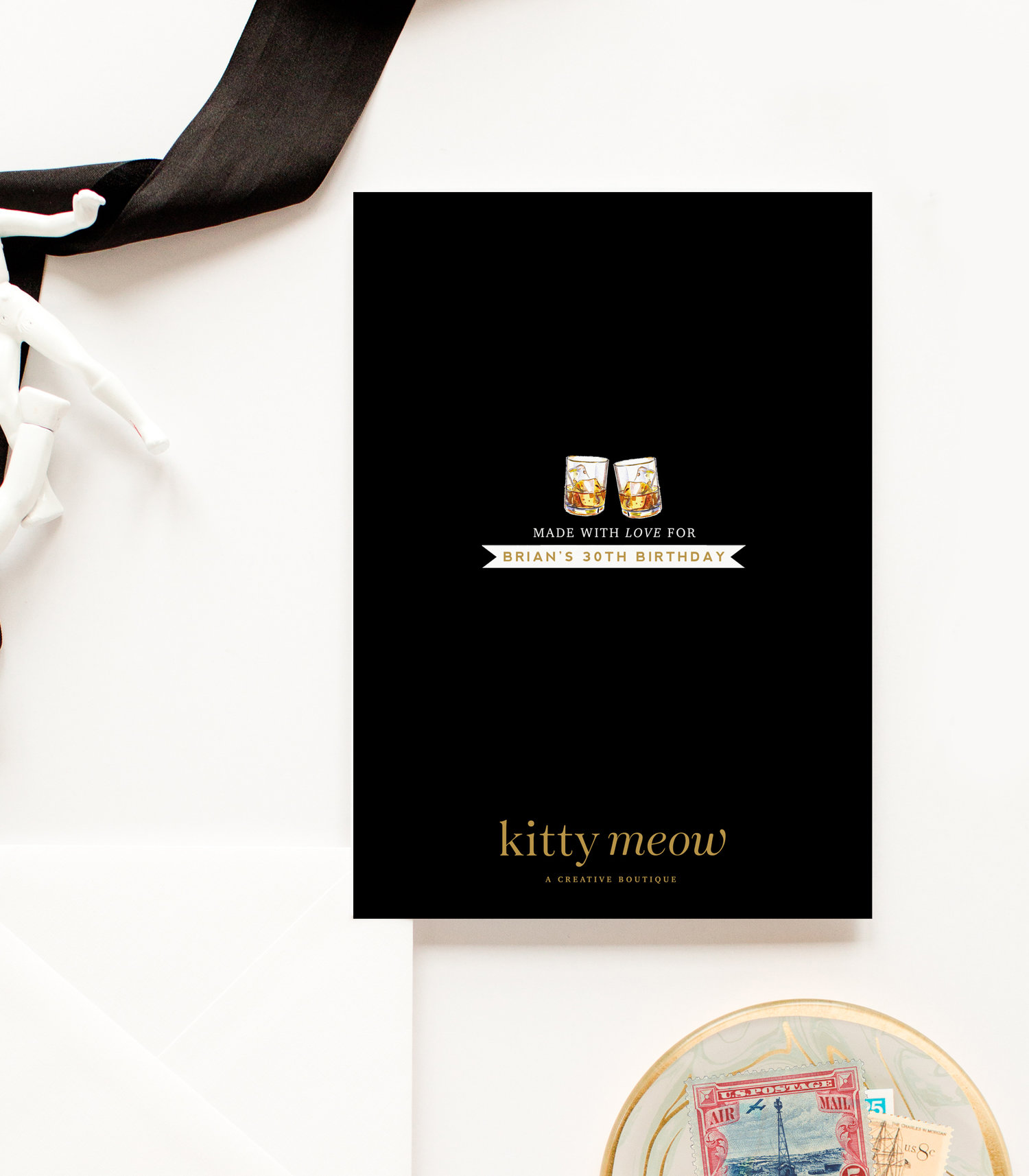 Kitty Meow Boutique Paper Party Goods Greeting Cards