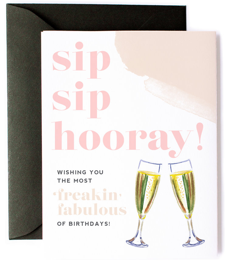 Witty Bday Sip Horray Fab 1