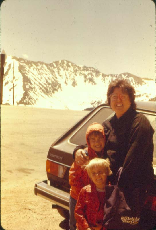 Mom, Jennifer, and me, Colorado 1979